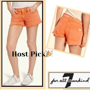 7 For All Mankind Shorts - Shorts 7FAM Raw Edge Denim Cool Peach Host Pick🎉